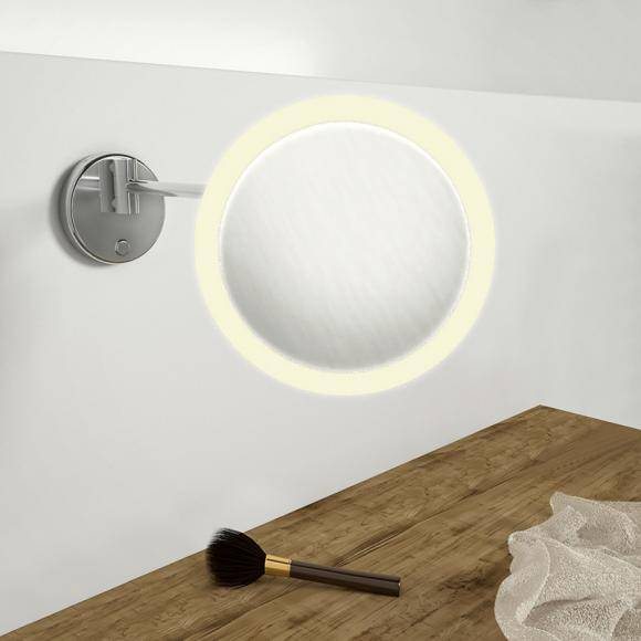 Steinberg Serie 650 Miroir cosmétique LED mural, avec variateur, 650 9030
