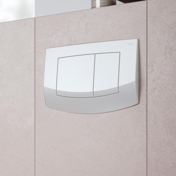 TECE ambia Plaque d'actionnement de chasse d'eau de WC pour technique de rinçage à 2 volumes, 4027255005822