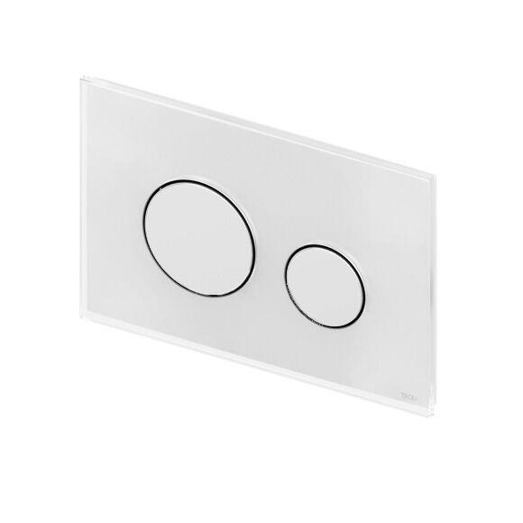 TECE loop Plaque d'actionnement en verre pour chasse d'eau de WC pour technique de rinçage à 2 volumes, 4027255017122