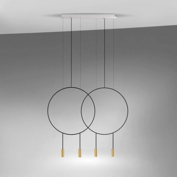 estiluz Revolta L73S.2D-W Suspension LED, 4 sources de lumière, 8432526292119