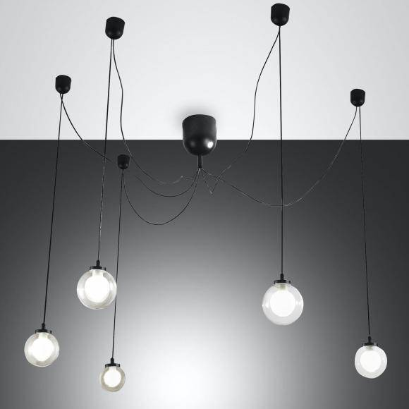 FABAS LUCE Blog Suspension à LED, 5 ampoules, 8019282111351