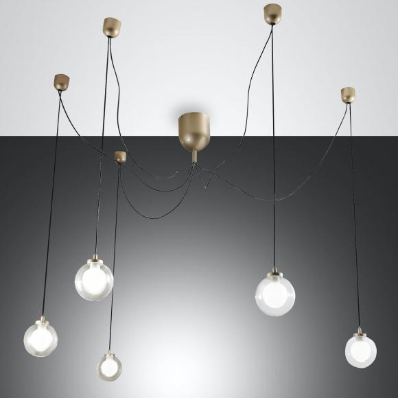 FABAS LUCE Blog Suspension à LED, 5 ampoules, 8019282111368
