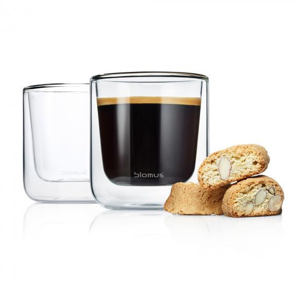Blomus NERO Lot de 2 verres à café double paroi, 63653