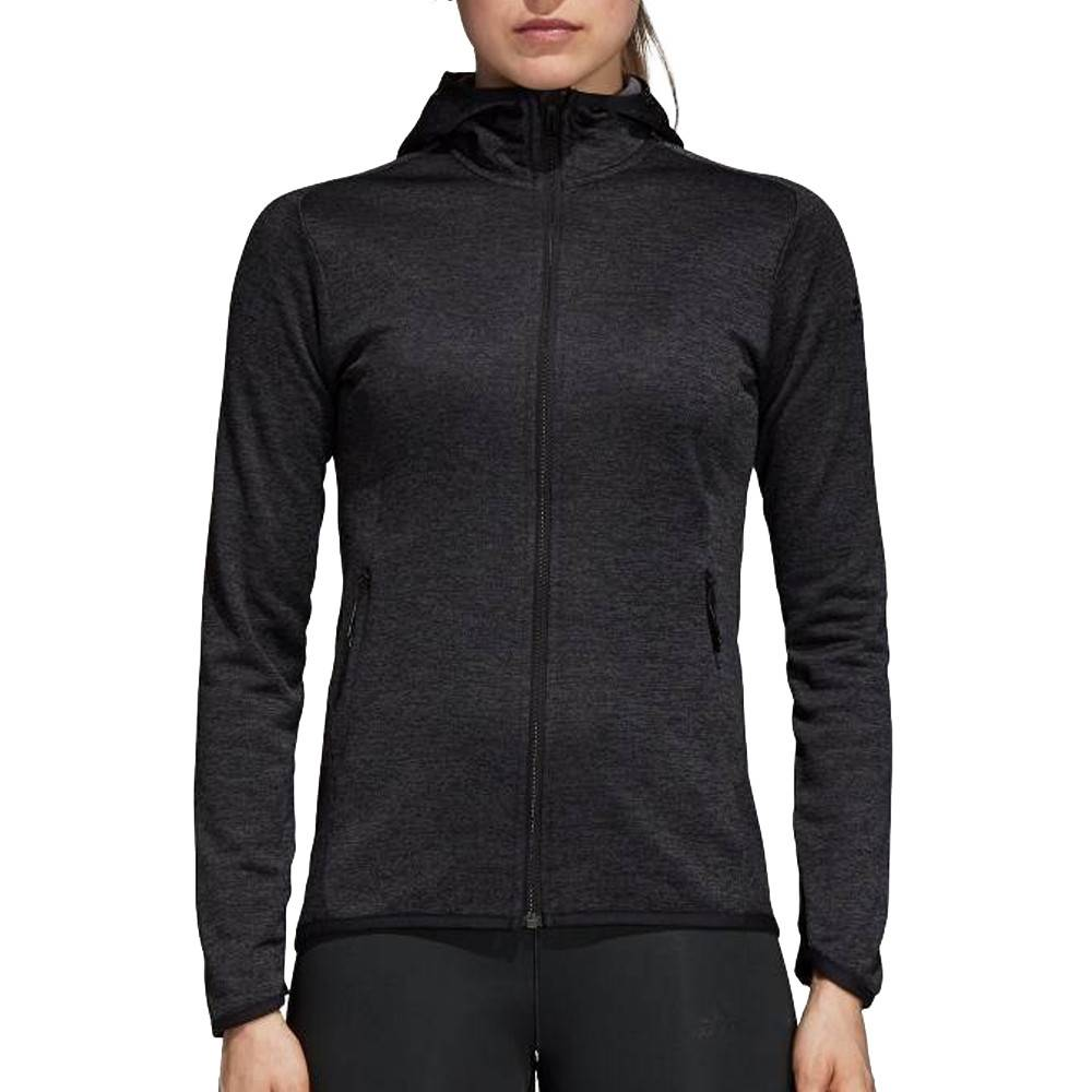 Adidas Veste noire femme Adidas FL CW Hoodie  - Blanc - XS
