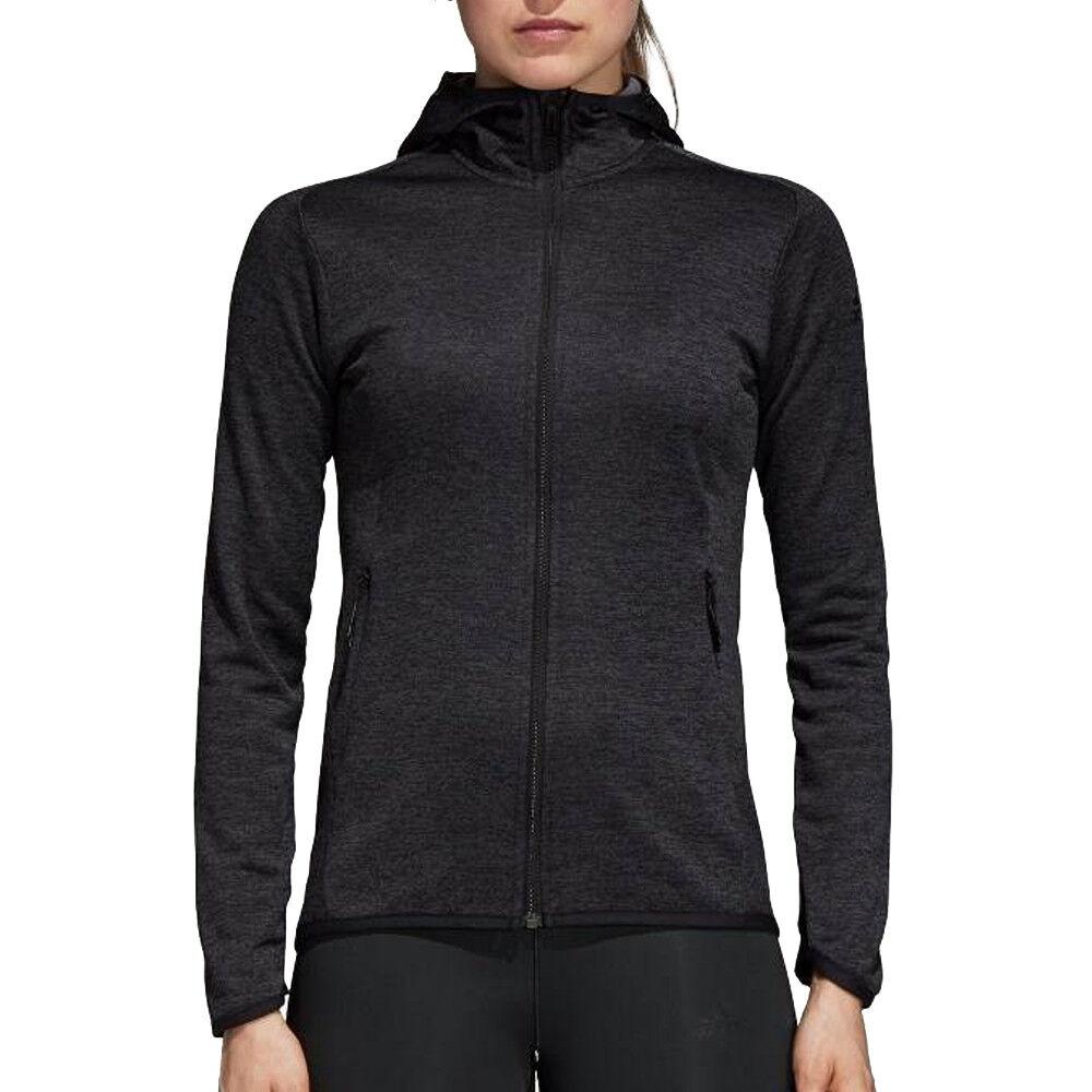 Adidas Veste noire femme Adidas FL CW Hoodie  - Noir