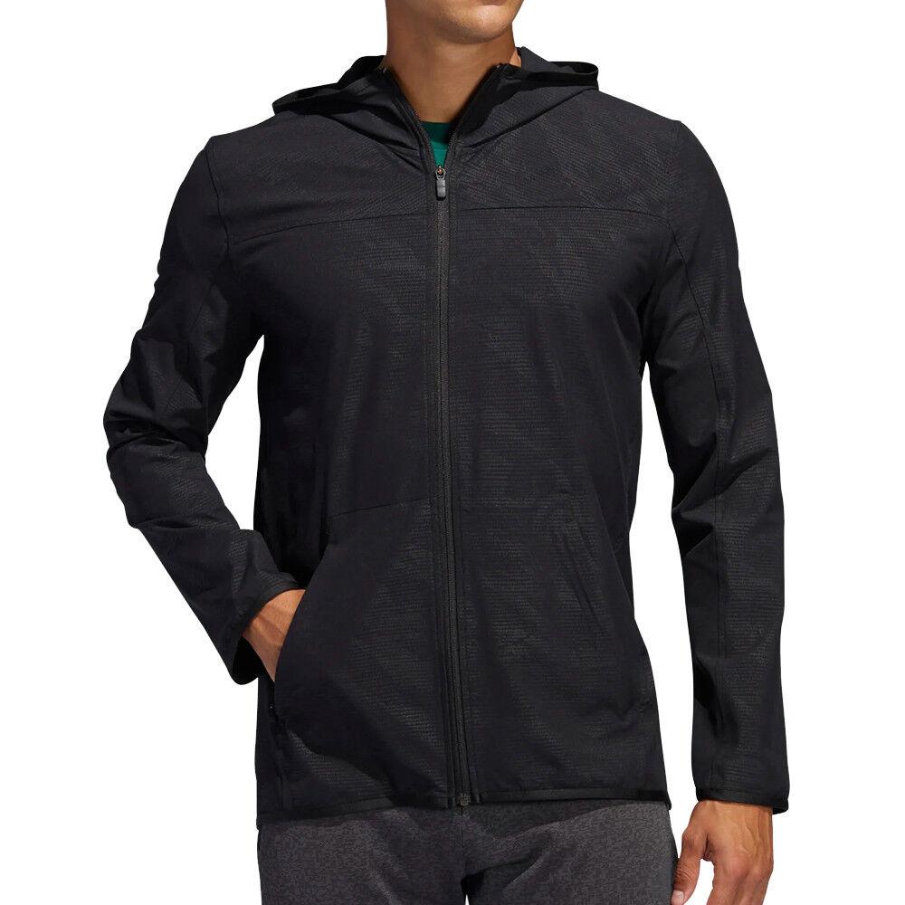 Adidas Veste d'entrainement Noire Homme Adidas City FZ Camo  - Noir