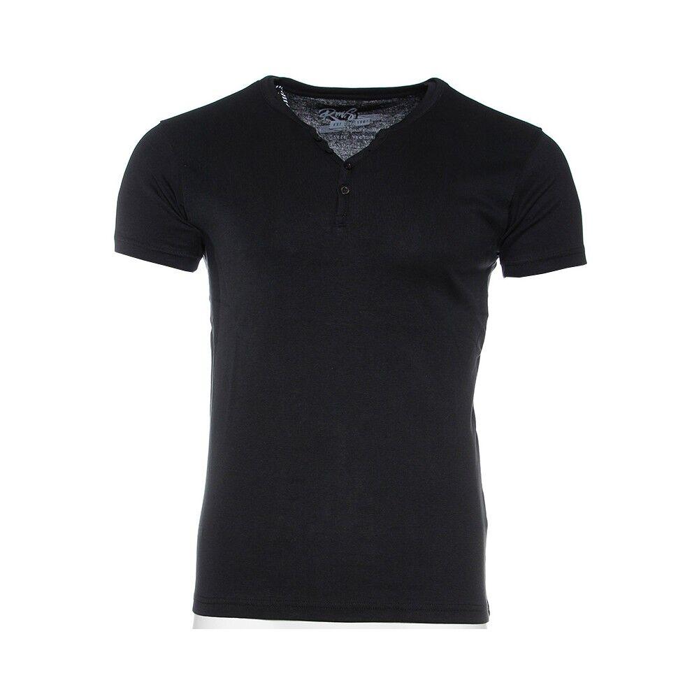 RMS26 Tee-shirt Noir Homme RMS Rib  - Bleu