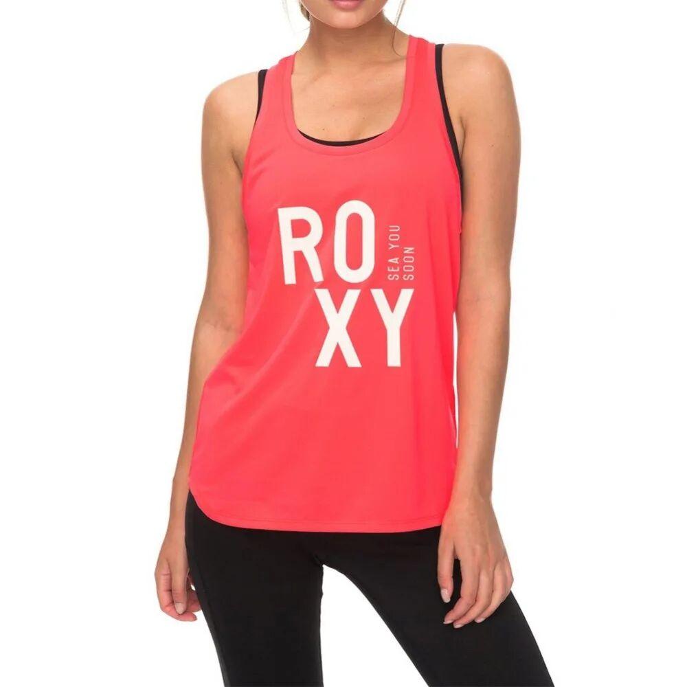 Roxy Paris Walk Femme Débardeur Sport Rose Fluo Roxy  - Noir - 47/50