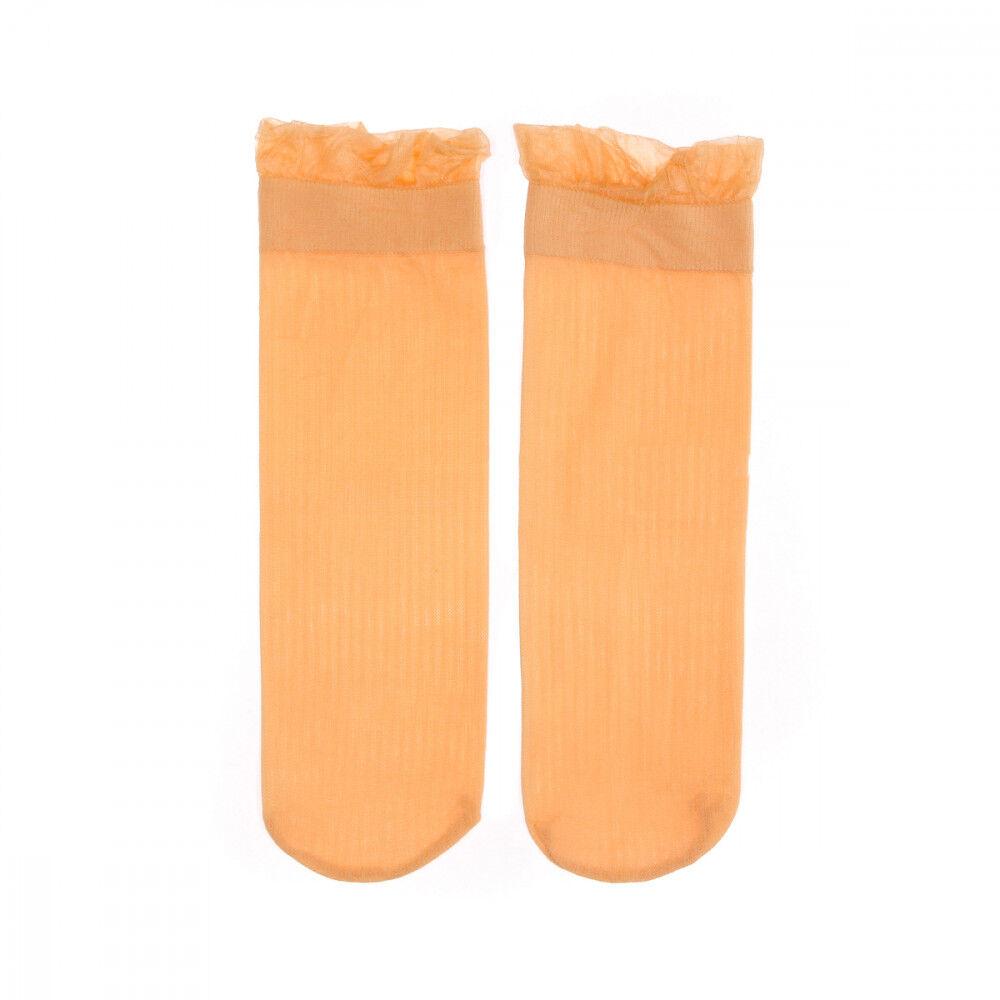 Vero Moda Chaussettes Orange Femme Vero Moda Mira  - Blanc