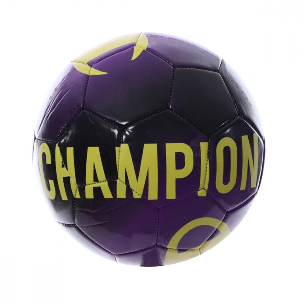 Champion Ballon de foot Violet Mixte Champion T5  - Blanc - L