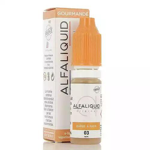 Alfaliquid Barbe à Papa Alfaliquid 10ml 00mg (sans nicotine ni tabac)