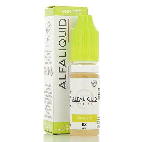 Alfaliquid Grenadine Alfaliquid 10ml 00mg (sans nicotine ni tabac)