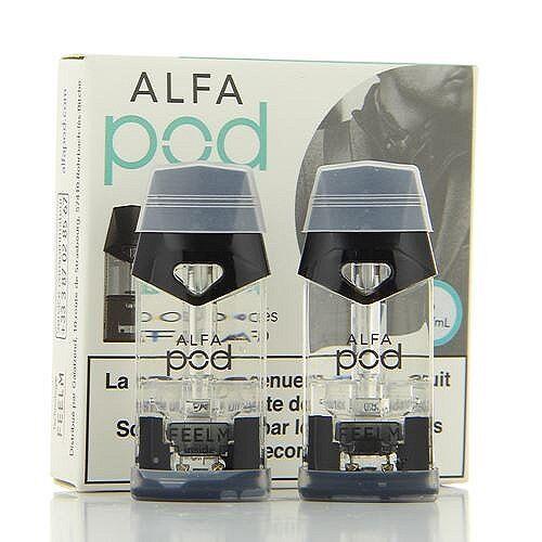 Alfatech Pack de 2 Pods de 1.9ml Menthe Glaciale Alfapod Alfatech 16mg