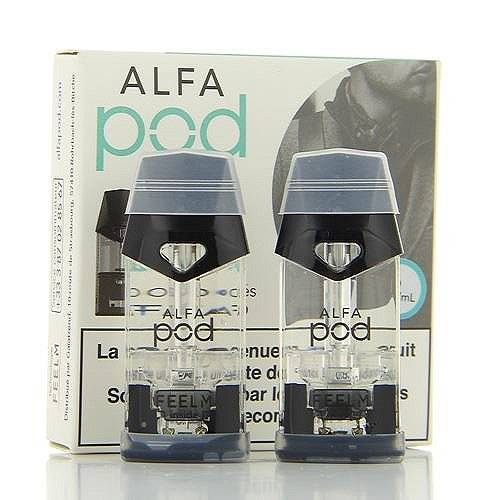 Alfatech Pack de 2 Pods de 1.9ml Menthe Glaciale Alfapod Alfatech 11mg