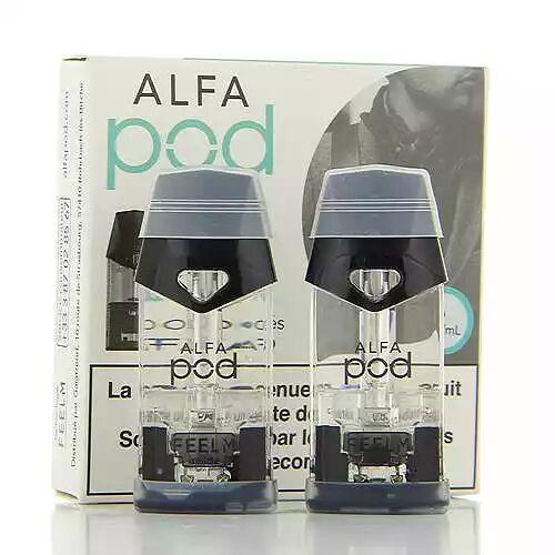 Alfatech Pack de 2 Pods de 1.9ml Menthe Glaciale Alfapod Alfatech 06mg
