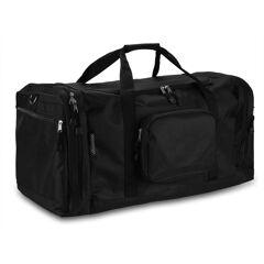monzana® Sac de sport fitness football randonnée voyage transport 70 cm 90 L - noir