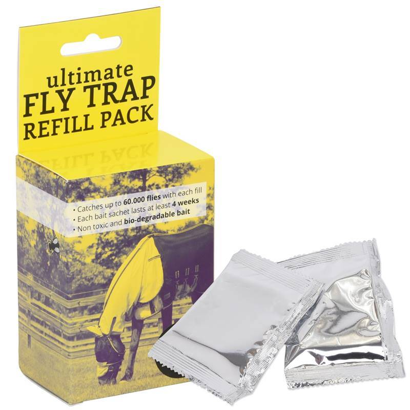 Recharge QHP pour piège d'extérieur contre les mouches QHP ultimate Fly Trap, 2 x 16 g