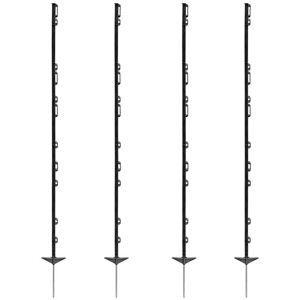 40 x piquets pour clôture électrique farm 156 VOSS.farming, 156 cm, noir - Publicité