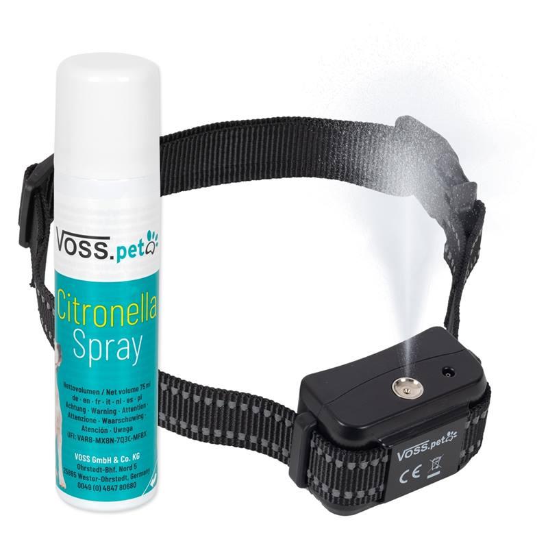 """Collier à spray anti-aboiements """"AB 2"""" de VOSS.PET, collier d'éducation anti-aboiements pour chien"""