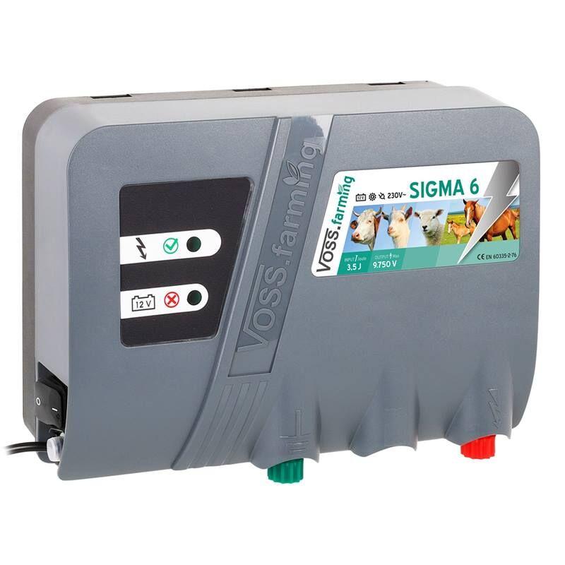 Électrificateur de clôture duo «SIGMA 6» de VOSS.farming - pour 12 V et 230 V