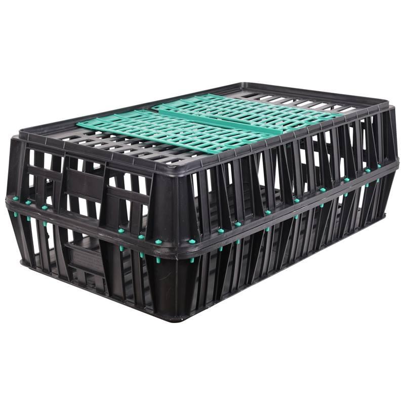 Caisse de transport pour volailles, avec porte coulissante  (83x50,5x31 cm)