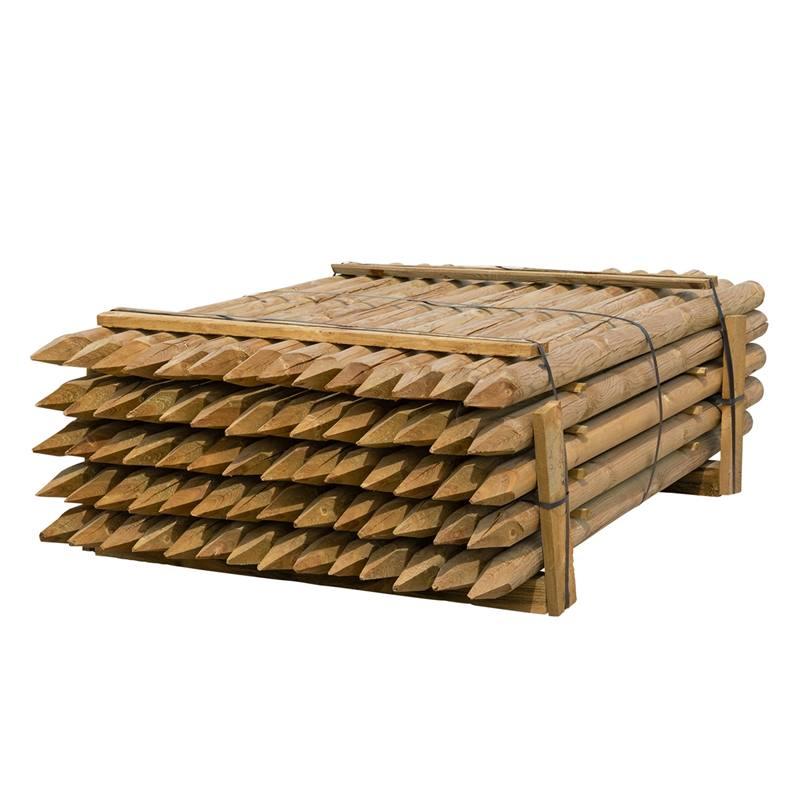 70 x piquet en bois rond de VOSS.farming, piquet de clôture en bois, traitement autoclave, classe d´utilisation 4, 175cm x 80mm