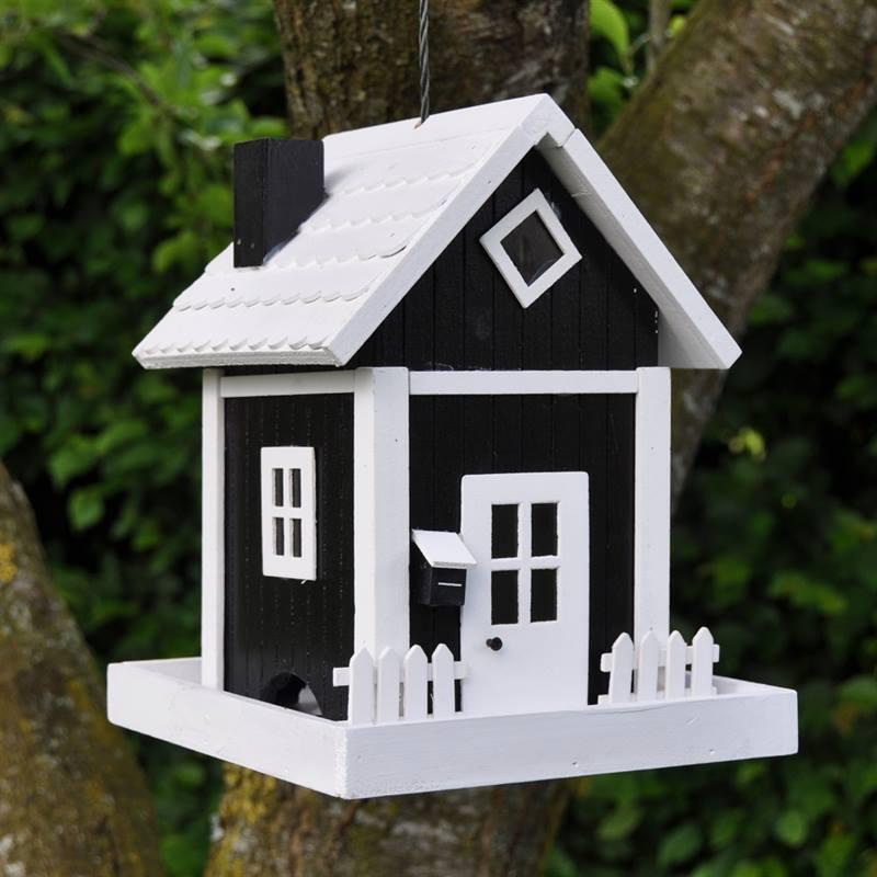 Maison / Mangeoire pour oiseaux Skagen, noire