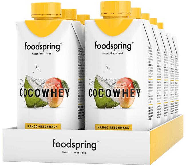 foodspring CocoWhey goût mangue en pack de 12