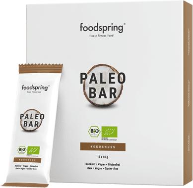 foodspring Barre Paléo à la noix de coco pack de 12