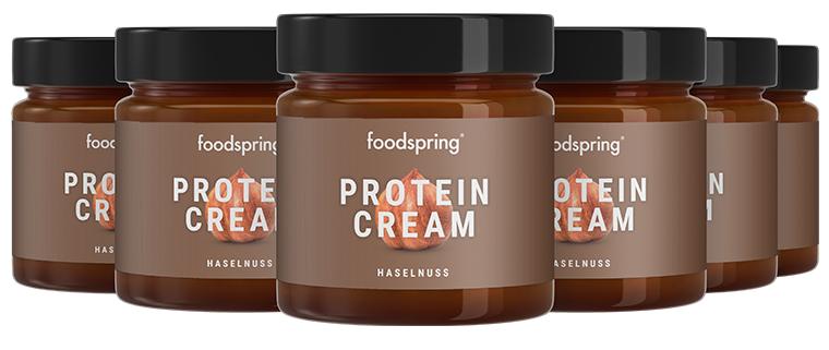 foodspring Pâte à Tartiner Protéinée Noisette en Pack de 6