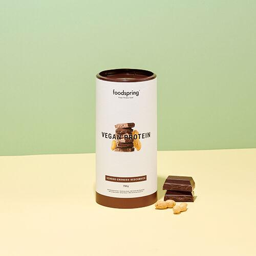 foodspring Protéine végétale goût Chocolat Beurre de Cacahuète