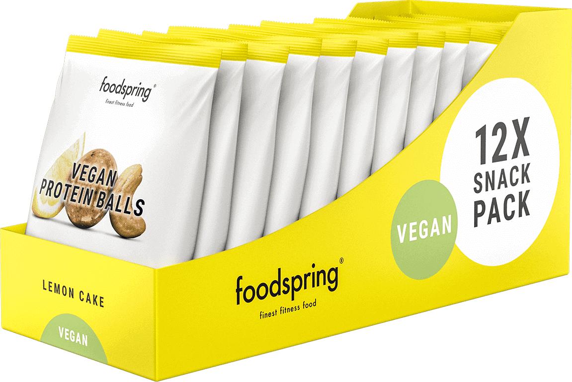 foodspring Vegan Protein Balls Gâteau au citron pack de 12