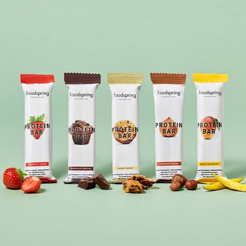 foodspring Protein Bar Pack de 12 Mix