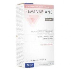 PILEJE Pilèje Feminabiane Conception boite de 30 comprimés et 30 capsules