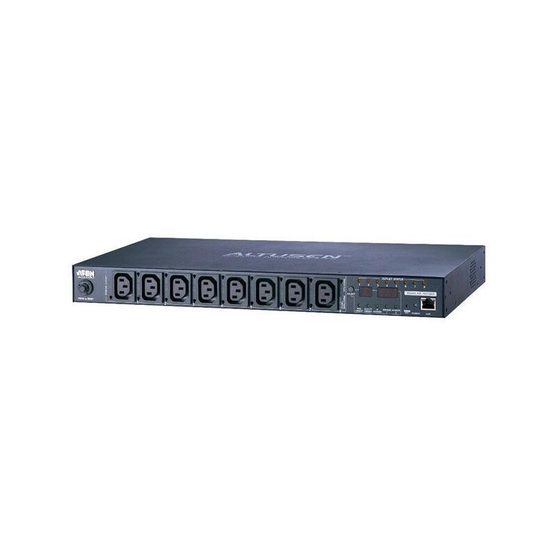 ATEN PE6108G - Avec contrôle en ligne - 1U - horizontale - Metal - Noir - 8 sortie(s) CA (PE6108G-AX-G)