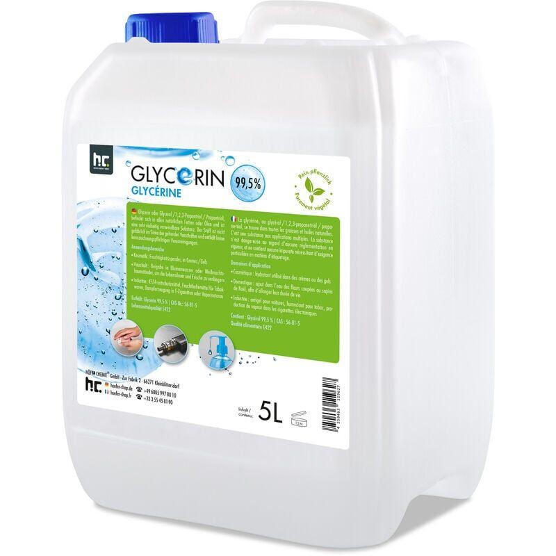 HöFER CHEMIE 1 x 5 Litre Glycérine végétale pure - qualité alimentaire