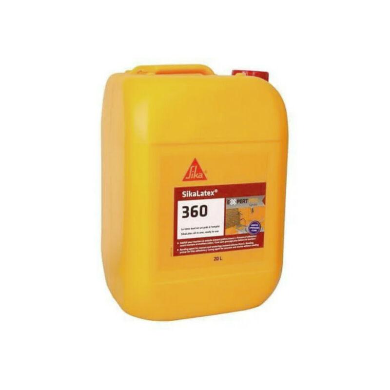 SIKA Additif pour mortiers et bétons tout en un prêt à l'emploi Latex 360 - Blanc - 20L - Blanc - Sika