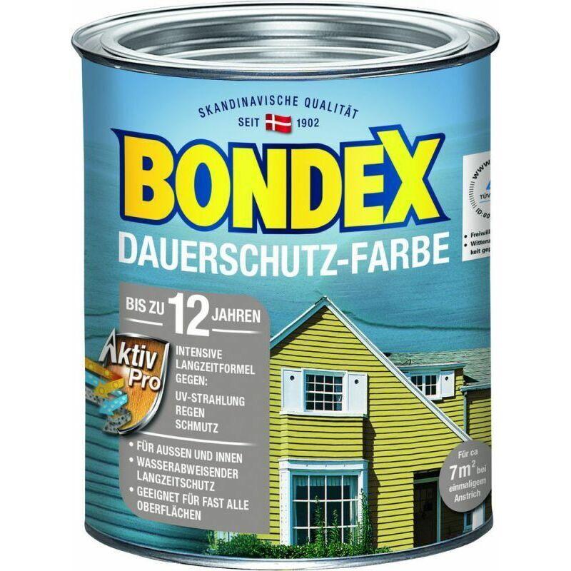 Bondex Protection de longue durée Peinture pour bois brun cacao / chocolat 0,75 l - 329890 - Bondex