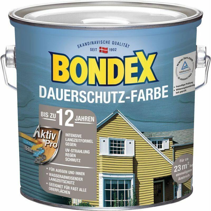 Bondex Protection de longue durée Peinture pour bois brun cacao / chocolat 2,50 l - 329889
