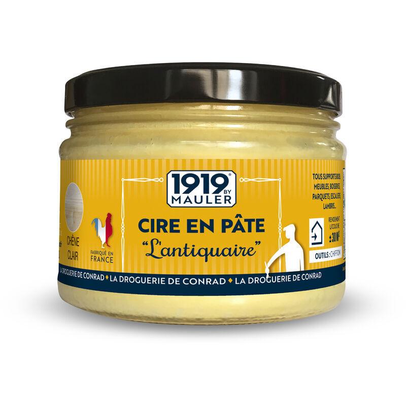 1919 By Mauler - Cire en Pâte abeille 'L'Antiquaire' - teinte : chêne moyen 0,5L - aspect cire ch?ne moyen