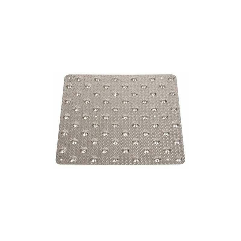 DUVAL Dalle podotactile de vigilance à coller aluminium grain d'orge 458 x 420 mm - Duval