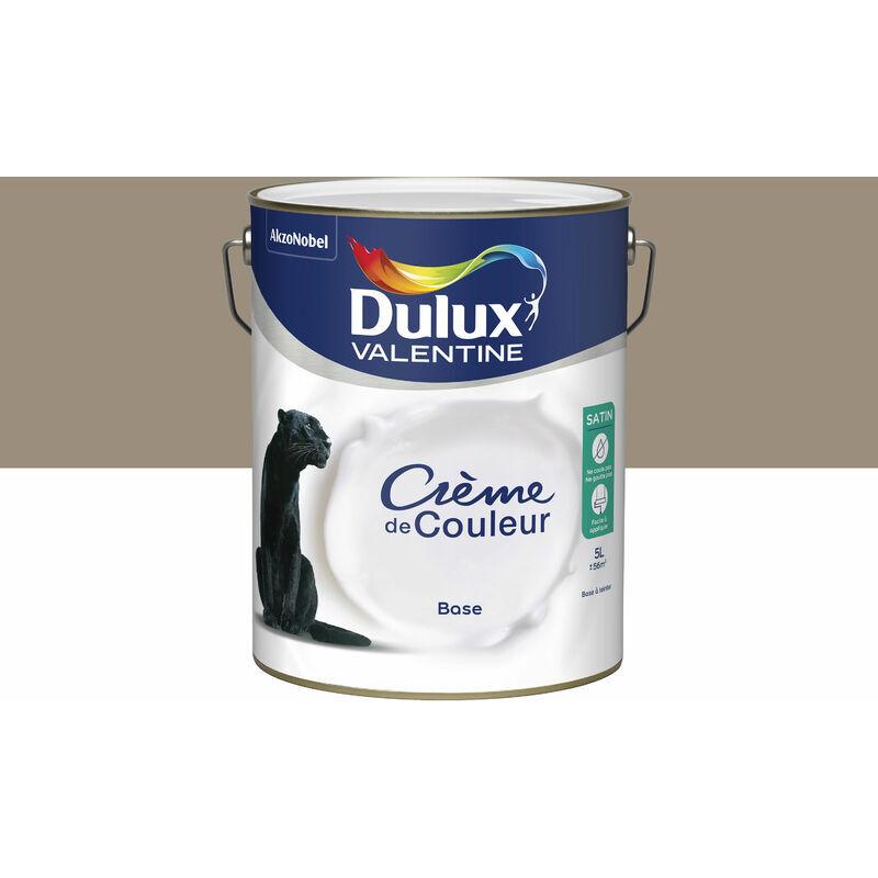 DULUX VALENTINE Peinture Crème De Couleur Satin Crème Noisette 5 L - Dulux Valentine