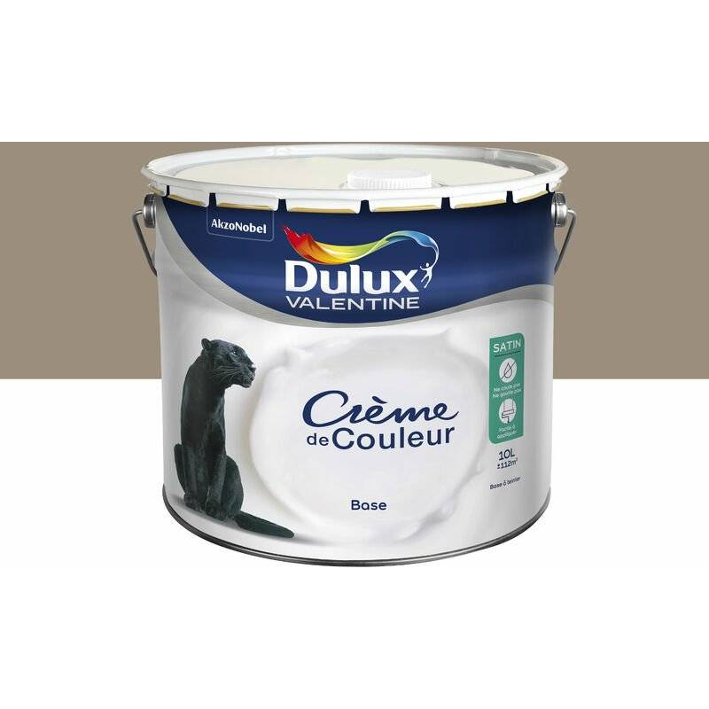 DULUX VALENTINE Peinture Crème De Couleur Satin Crème Noisette 10 L - Dulux Valentine