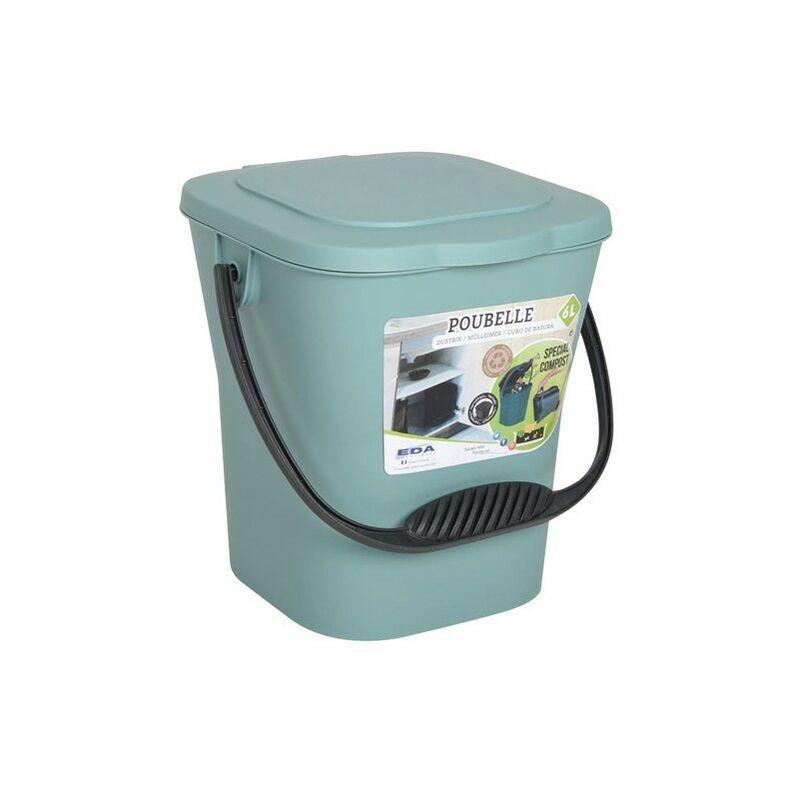 EDA - Seau compost 6L - vert eucalyptus avec couvercle