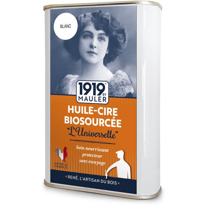 1919 BY MAULER Huile-Cire gris clair Biosourcée patine pour meuble & boiserie - 0,5L - aspect cire perle