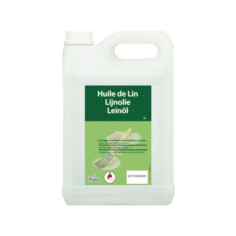 LA PHOCÉENNE DE CHIMIE Huile de lin 5 litres - Phebus
