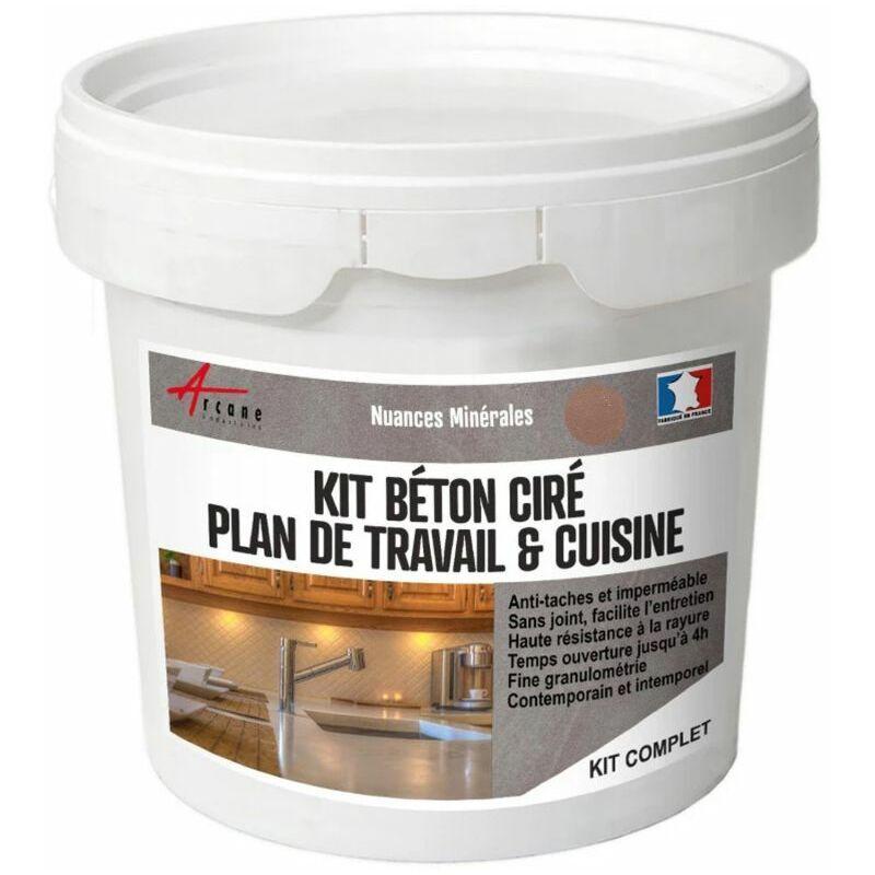 Arcane Industries - Béton ciré plan de travail cuisine crédence évier sol et mur revêtement mural décoratif kit complet Marang - Vert Clair - kit 10