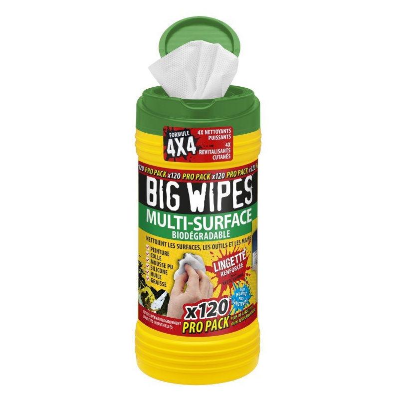 Bigwipes - Lingettes multi-surface BIG WIPES - boîte de 120 - BIW-MS120