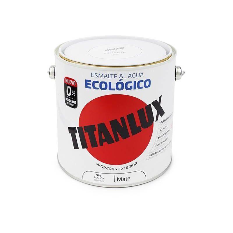 TITANLUX émail écologique Eau Maté   4 L - 566 Blanc - Titanlux