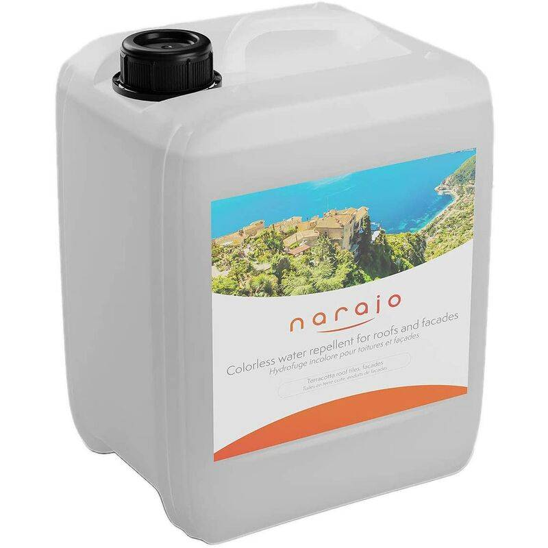 NARAJO® - Hydrofuge Incolore - Imperméabilisant Prêt à l'Emploi pour Façades, Toitures, Matériaux Poreux - Application Simple - Produit en Phase